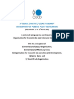 """OECD - A """"global charter"""" / """"legal standart"""" - AN INVENTORY OF POSSIBLE POLICY INSTRUMENTS"""