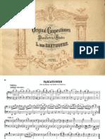 Beethoven Variations Waldstein Pf4H