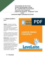 Análise de Programa de Governo - Leve Leite.doc