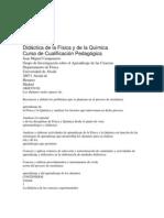 Didáctica de la Física y de la Química