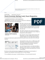 Dutch Economy Springs Leak, Faces Stagnation - WSJ