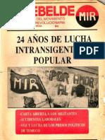 El Rebelde 258 Agosto 1989