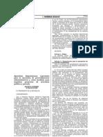 DS. Nº 060-2013-PCM. disposiciones especiales para la ejecucion de procedimientos administrativos  para impulsar proyectos de inversión publica y privada.