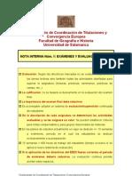 Nota interna nº 1 Exámenes y evaluaciones
