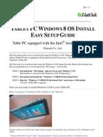 TabletPC Windows8 Setup GUIDE