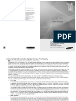 Samsung LCD TV B630 B640 B650 User Manual