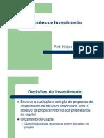 Slides - Decisões de Investimento