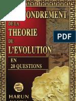 effondrement de la théorie de l'évolution