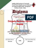 Diploma Modelo Sin Foto