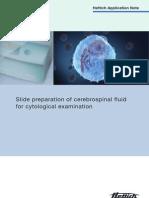 slide preparation of cerebrospinal fluid for cytological examination