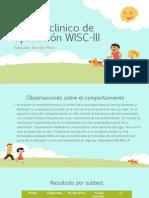 Caso clinico de aplicación WISC-III