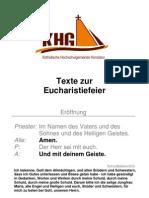 Texte Zur Eucharistiefeier Deutsch