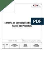P - SGSSO - OPE - 003 - Trabajos en Altura y Superficies de Trabajo