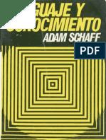 Adam Schaff Lenguaje y Conocimiento