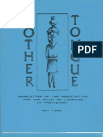 Mother Tongue Newsletter 7 (May 1989)