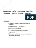 INTRODUCCIÓN Y SENSIBILIZACIÓN SOBRE LA GESTIÓN DE CALIDAD