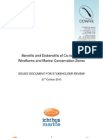 Benefits and Disbenefits of Co-Locating Windfarms and Marine Conservation Zones