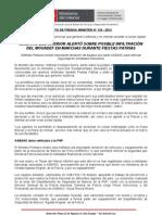MINISTRO DEL INTERIOR ALERTÓ SOBRE POSIBLE INFILTRACIÓN DEL MOVADEF EN MARCHAS DURANTE FIESTAS PATRIAS