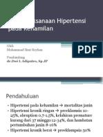 Penatalaksanaan Hipertensi Pada Kehamilan