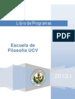 Libro de Programas 2013-I Portada Indice