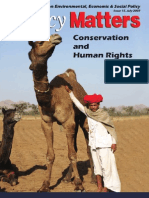 Conservation & Human Right - Policy Matters-2007