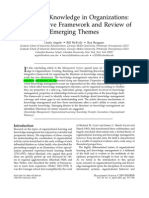 Argote_ McEvily_Reagans_2003_Managing Knowledge in Organizations an Integrative Framework and Review of Emerging Themes. Management Science
