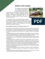 Produccion Madera, Metales, Electricidad, Artes Graficas