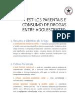 Note 06 - Estilos Parentais e Consumo de Drogas Entre Adolescentes