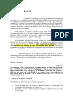 Auditoría Operativa, Apunte