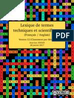 Lexique de termes techniques et scientifiques (Classement par thème)