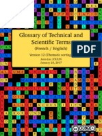 Glossary of Technical and Scientific Terms (Thematic sorting)