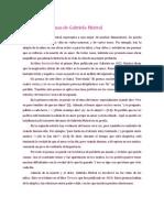 Análisis de poemas de Gabriela Mistral