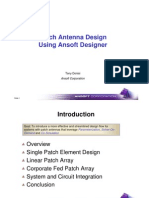 1-1 Patch Antenna Design Using Ansoft Designer