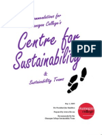 Sustainability Administrative Structure Recommendations