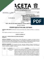 Gaceta Gobierno Estado de México 23/Abr/09
