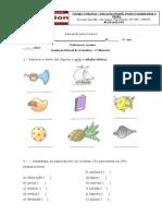 avaliação mensal gramática 5º ano - 1º BIM