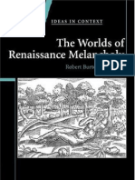 Angus Gowland the Worlds of Renaissance Melancholy Robert Burton in Context Ideas in Context 2006