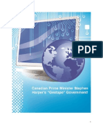 Canadian Prime Minister Stephen Harpers Gestapo Government