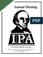 183rd Annual Meeting International Platform Association