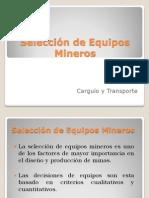 Selección Equipos Mineros 1