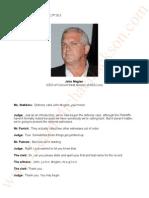 Jackson V AEG Live. Transcripts of John Meglen(CEO Concert West division of AEG Live) July 22nd 2013