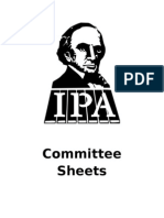 Committee Sheets 183rd Annual Meeting