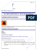 Alcohol Isobutilico- Msds