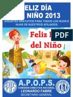 AFICHE - DIA DEL NIÃ'O 2013