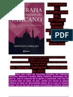 BIOGRAFÍA NO AUTORIZADA DEL VATICANO, AUTOR SANTIAGO CAMACHO