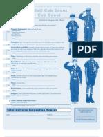 Pack 3322 BSA Cub Scout Uniform Inspection Sheet