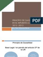 Principio de Causalidad en El Impuesto a La Renta 12122012