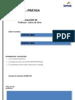 Prova de AutoCAD 001 - 23022013 PRÁTICA
