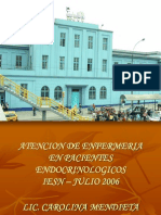 Atencion de Enfermeria en Pacientes Endocrinológicos