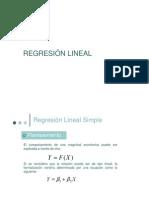Re Gresi on Lineal Simple